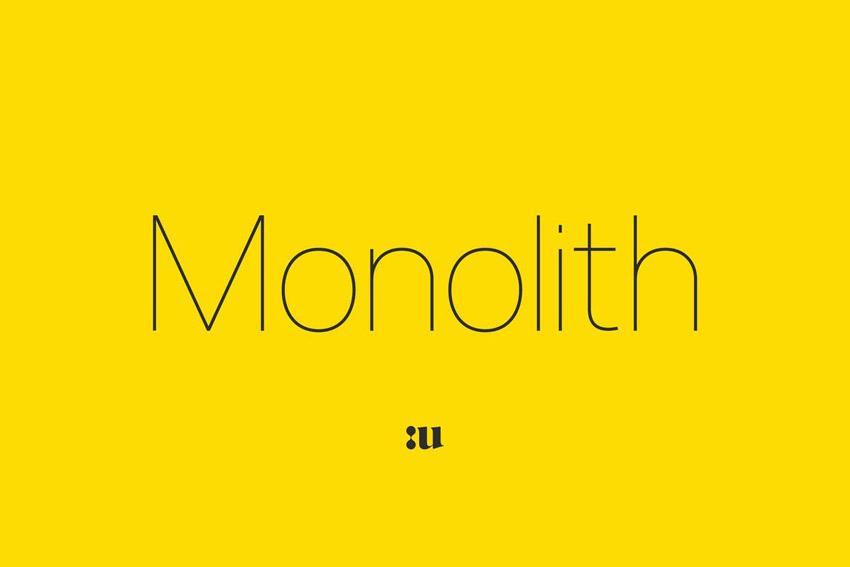 Monolith Geometric Typeface Font Family