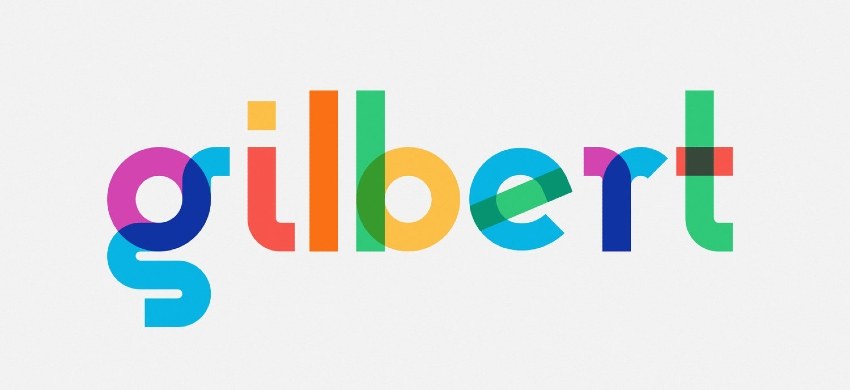 The Gilbert font is also known as the Rainbow color font