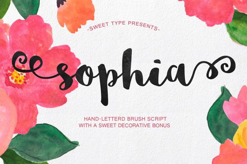 Sophia Free Hand Lettering Fonts