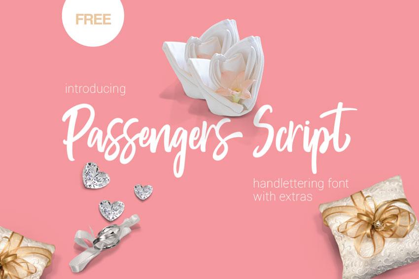 Passengers Font Free Lettering