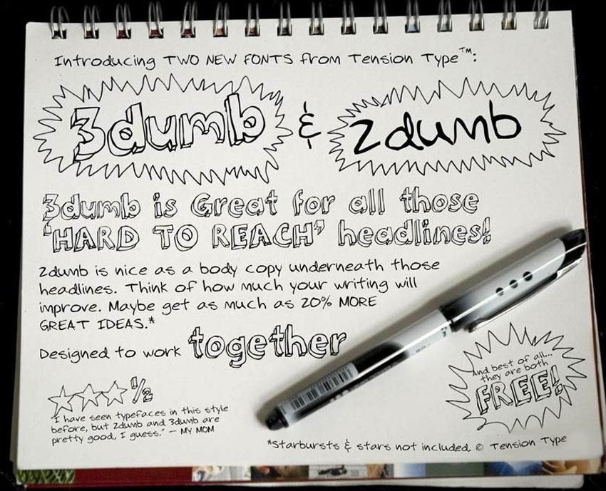 3Dumb Fonts For Free