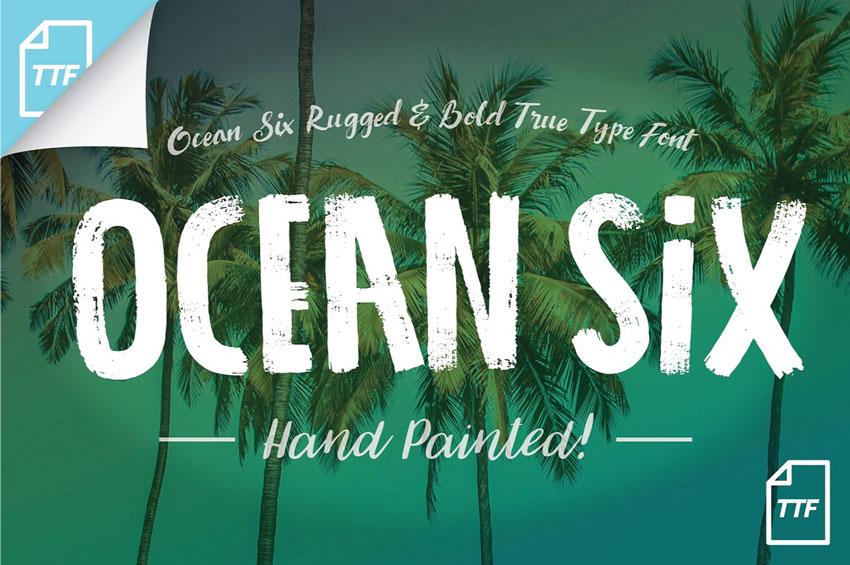 Ocean Six Brush Font