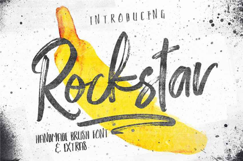 Rockstar Brush Font Set