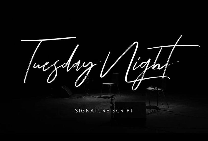 Tuesday Night Font