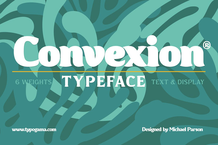 Convexion Decorative Sans Serif Font Family