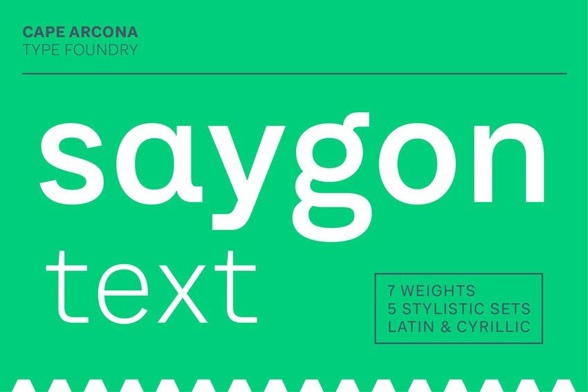 CA Saygon Sans Serif Font Family