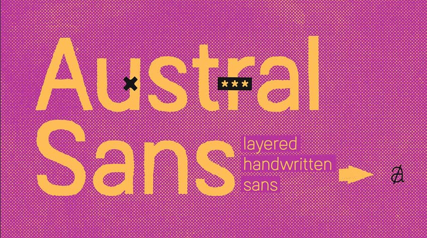 Austral Sans Stylish Sans Serif Typeface