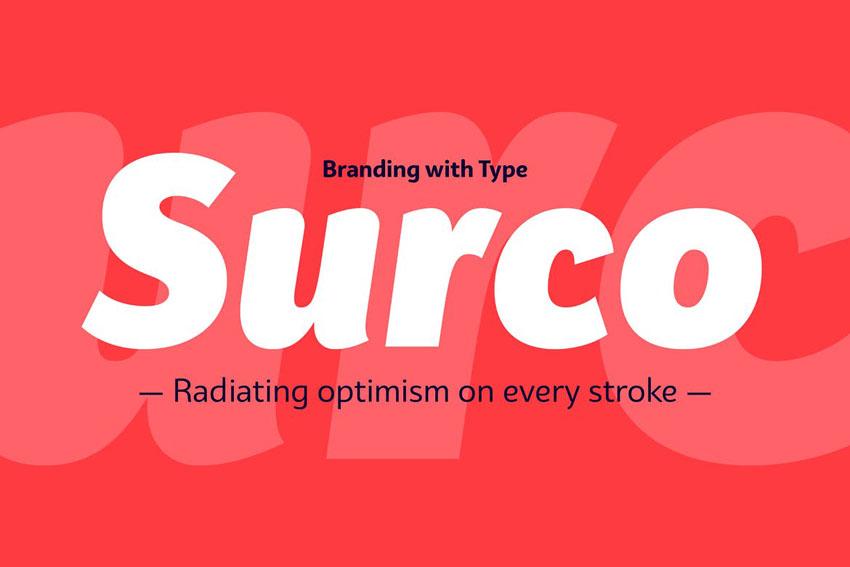 Surco Font Family Humanist Script Font