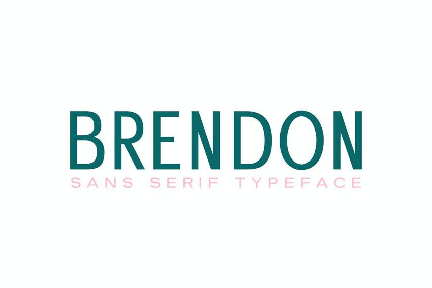 Brendon Sans Serif Inspired Humanist Font