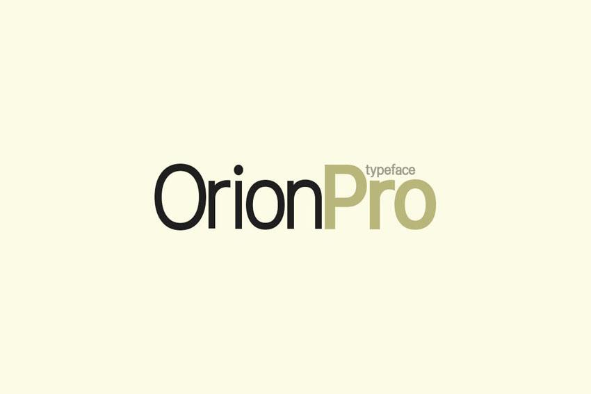 Orion Pro Sans Serif Typeface