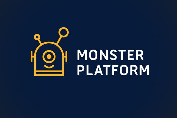 Monster Platform Logo Line Art by minimalexa