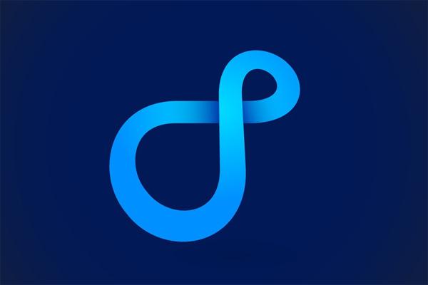 Infinity blue logo