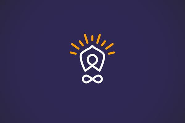 Body and light bulb Line Logo by Anastasia Kurilenko