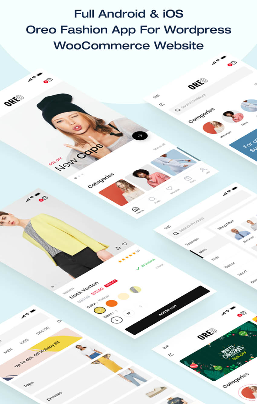 Oreo Fashion Modern Full App Template