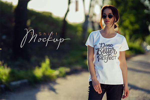 Simple Best Female T-Shirt Mock-Up