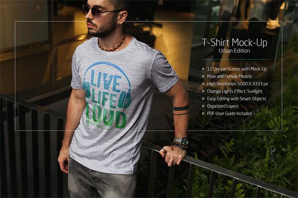 Best T-Shirt Mock-Up Urban Edition