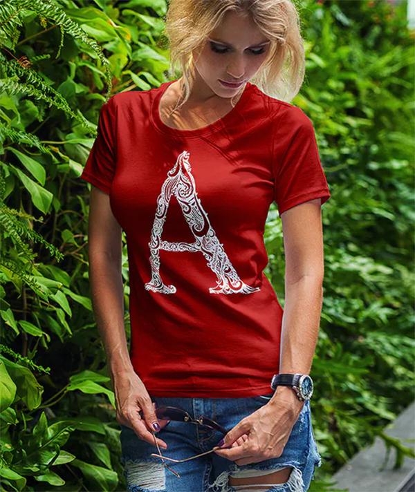 Cool T-Shirt Mock-Up Fashion Girl