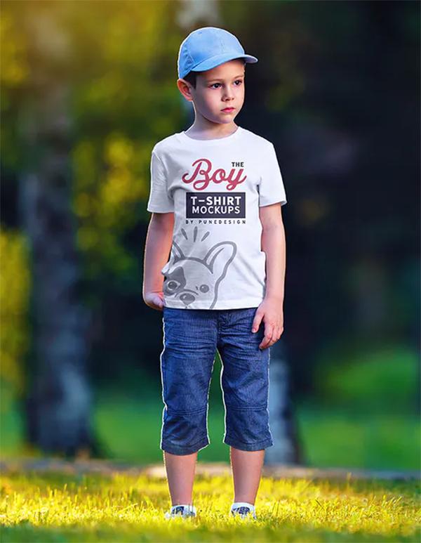 Serious Boy T-Shirt Mock-Up