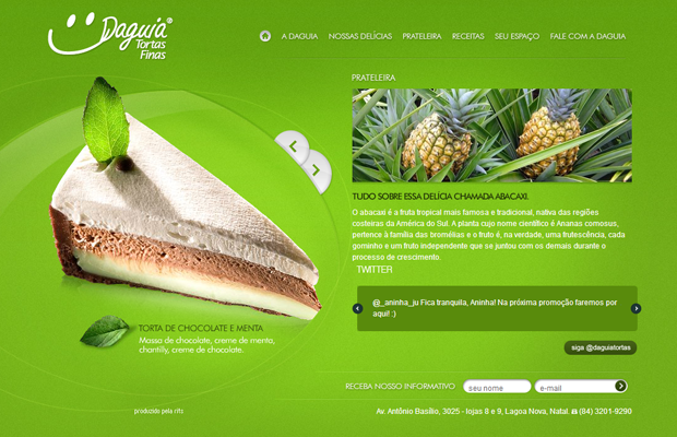 daguia pastries sweets green website layout