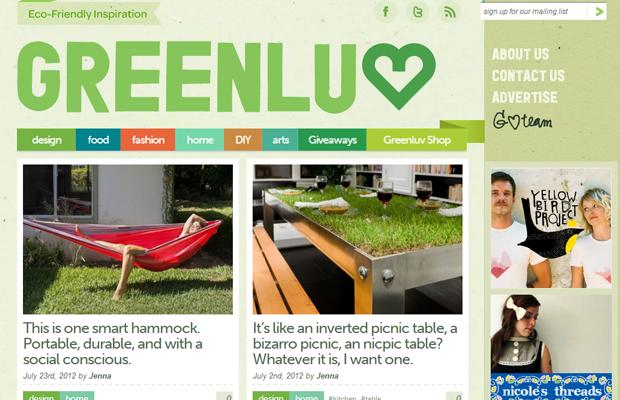 green website layout inspiration greenluv ecofriendly