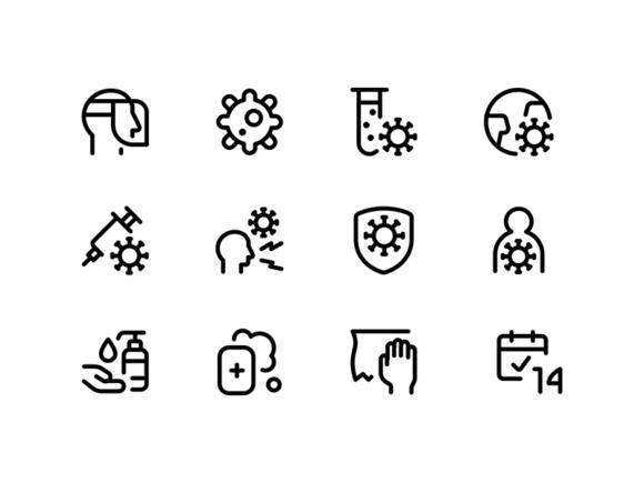 140 Free Covid icons
