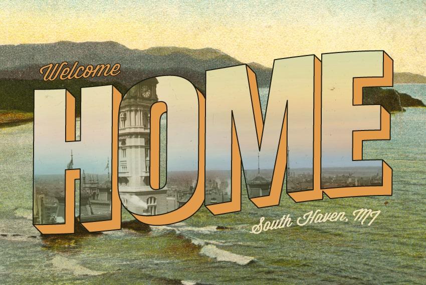 vintage postcard design