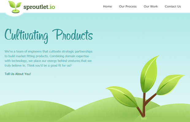 sproutlet io cultivating green website layout