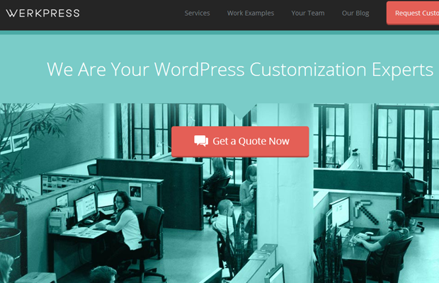 werkpress homepage website layout internet green