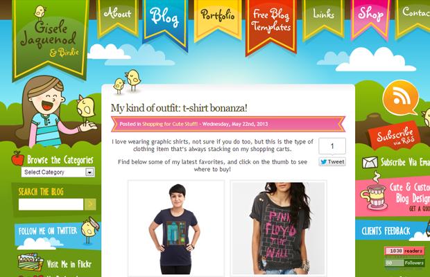 green blog shopping website gisele