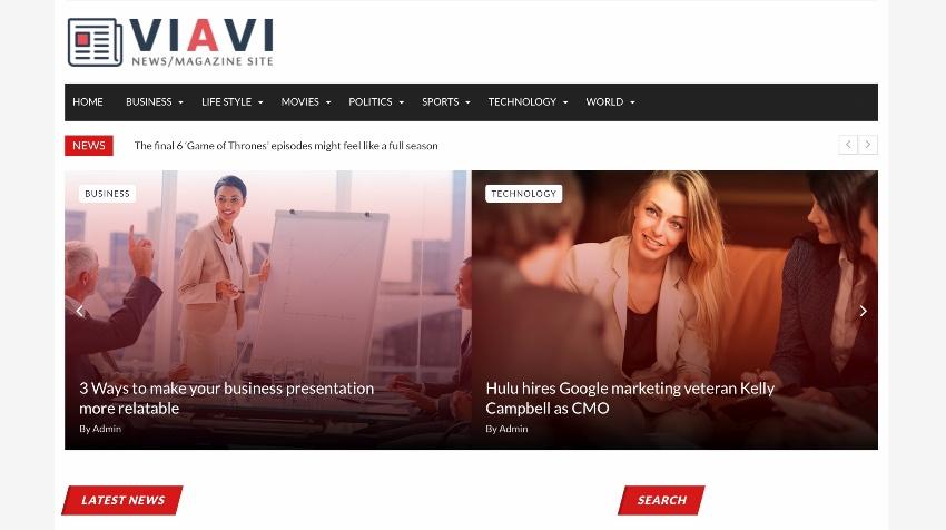 Viavi News Magazine Blog Script