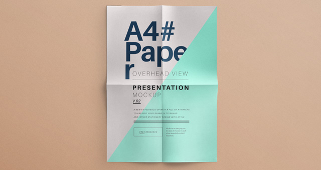 Free Paper Mockup PSD
