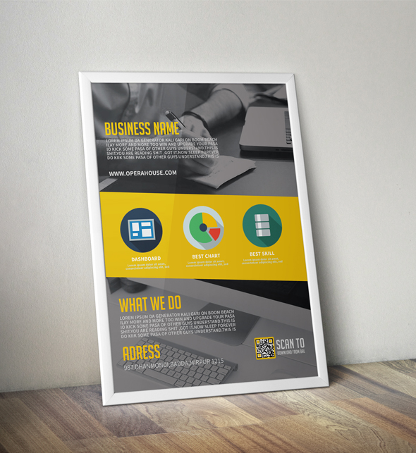 Free template for a corporate flyer