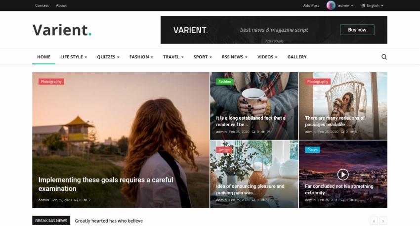 Varient News Magazine Script