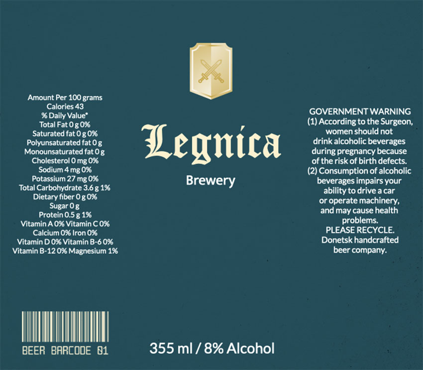 Beer Bottle Labels for Artisanal Brewery