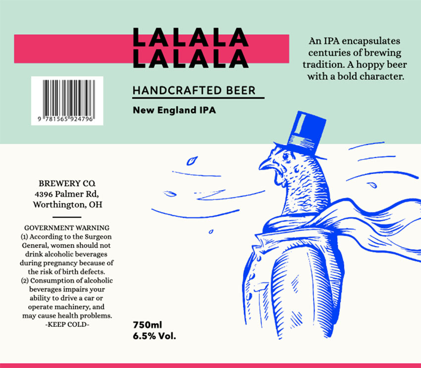 Custom Beer Labels for a Cool Draft Beer