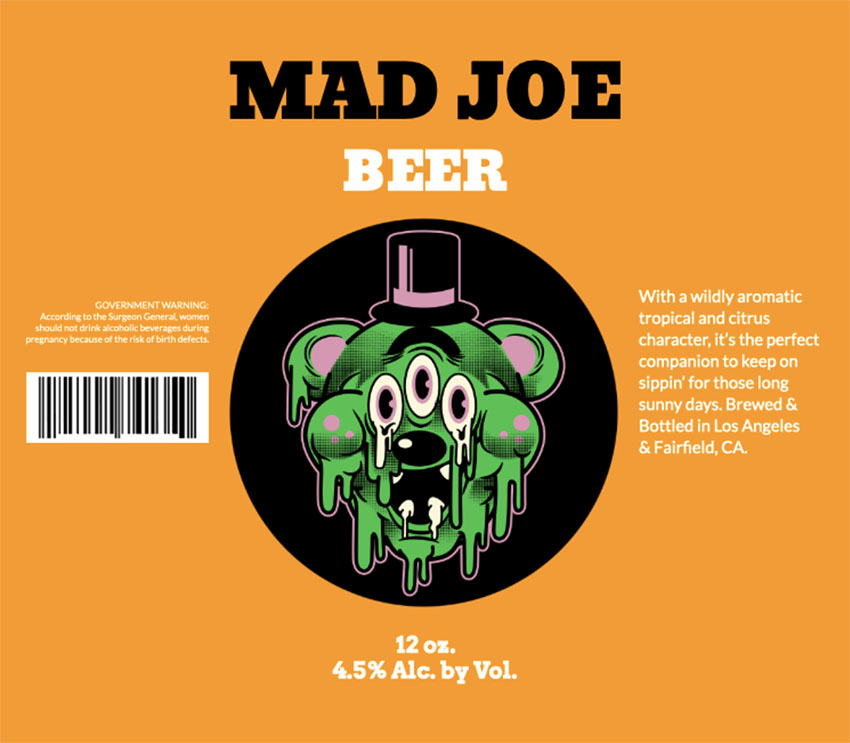 Beer Label Design with Funny Graphic