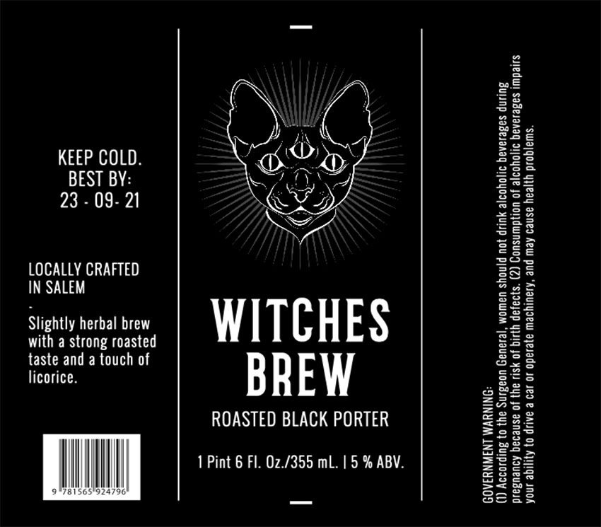 Custom Beer Labels with Dark Graphics