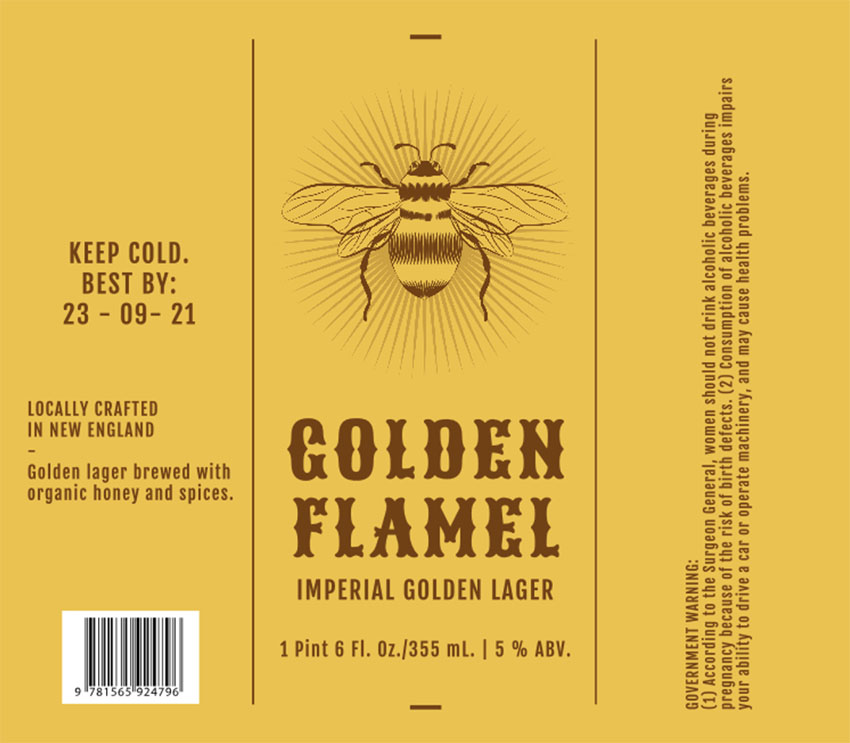 Beer Label Template for an Imperial Lager