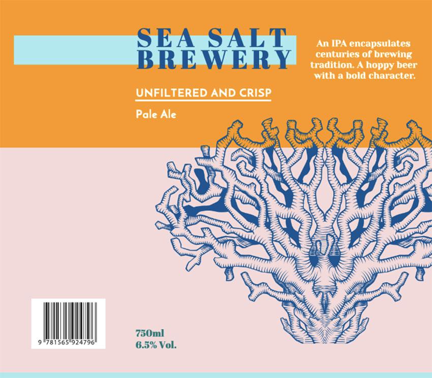 Beer Label Design for Pale Ale Beer