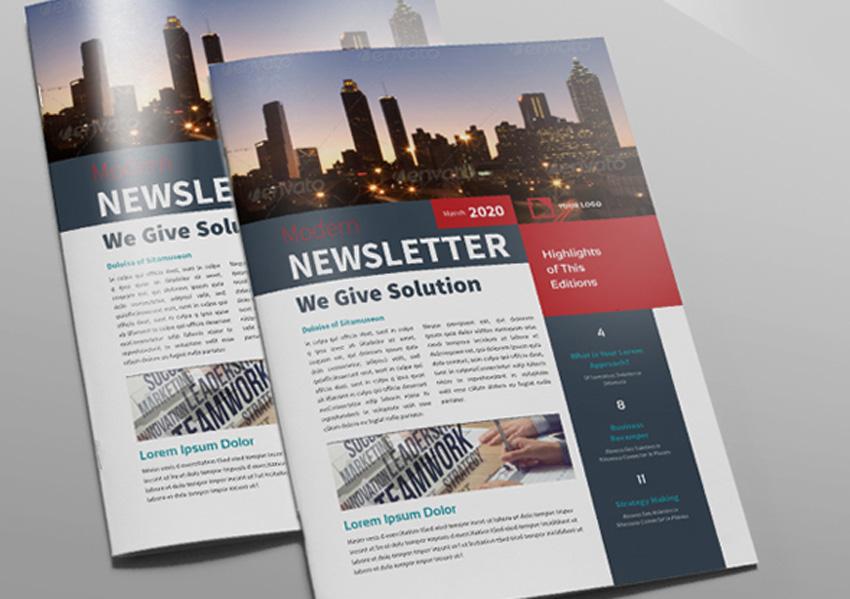 Modern real estate newsletter template