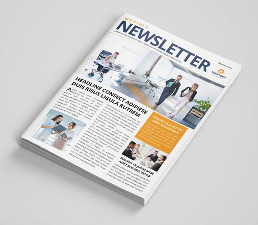 Corporate real estate newsletter template