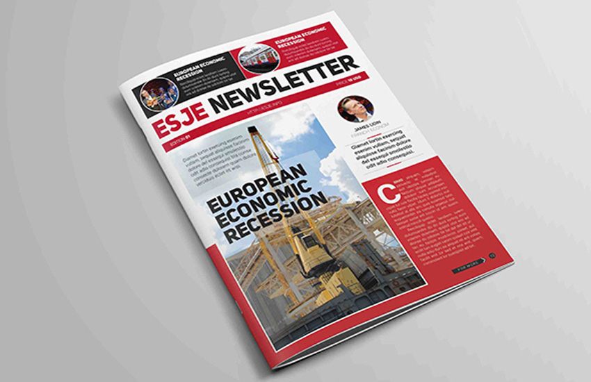 Newsletter real estate template