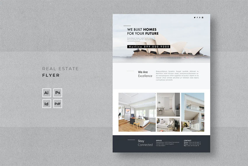 Single Page Real Estate Newsletter Templates
