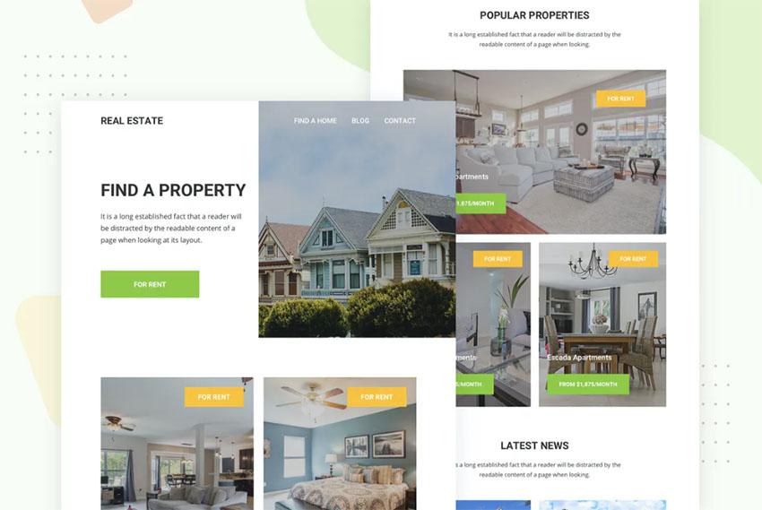 Newsletter Real Estate Templates