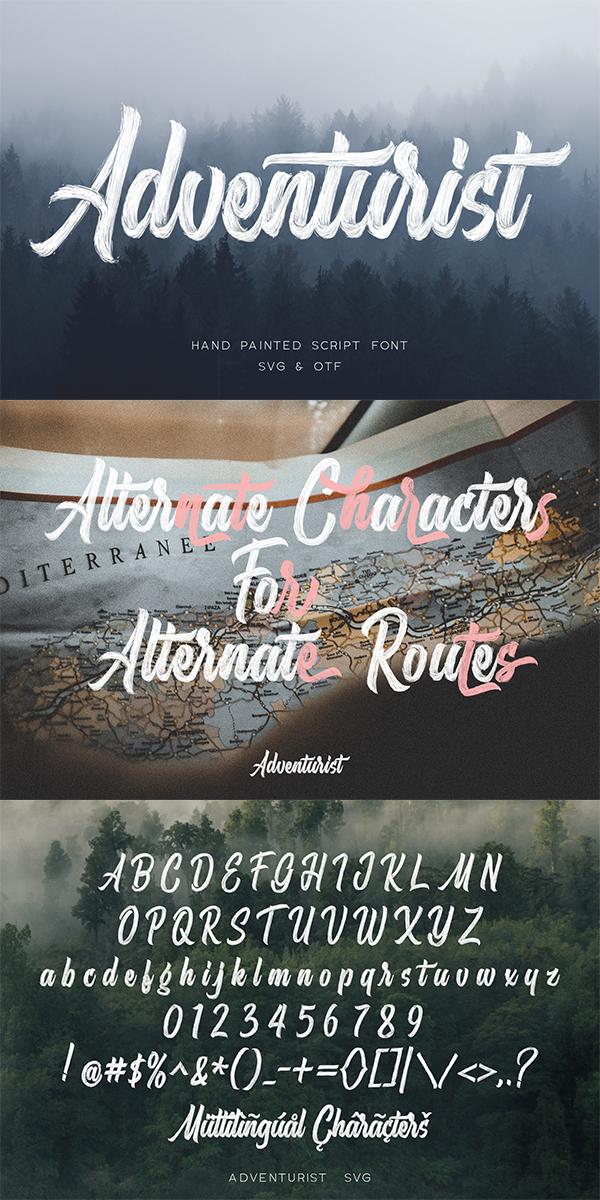 Adventurist - SVG Script Font