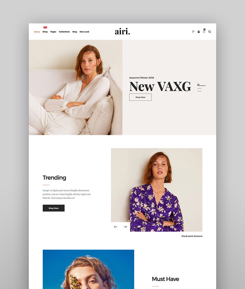 Airi - Clean Minimal WooCommerce Theme