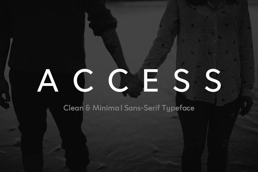 ACCESS Envato Elements Font