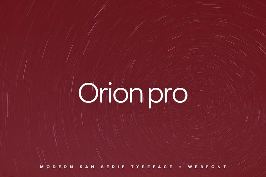 Orion pro Envato Elements Web Font