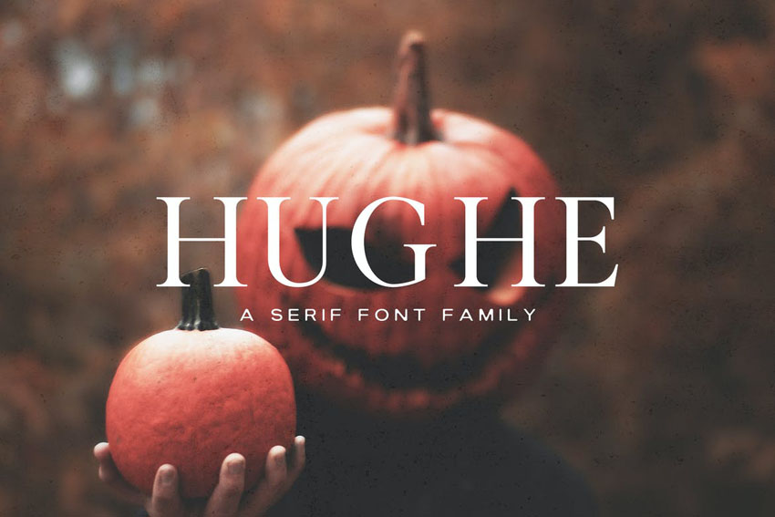 Hughe Serif Font Family