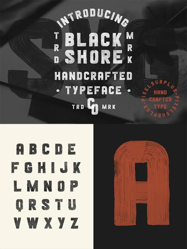 Blackshore - Hand Painted SVG Font